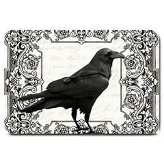 Vintage Halloween Raven Large Doormat