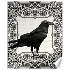 Vintage Halloween Raven Canvas 11  X 14