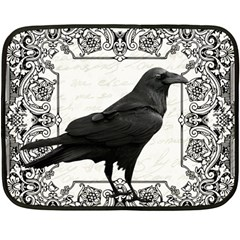 Vintage Halloween Raven Fleece Blanket (mini)
