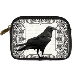 Vintage Halloween Raven Digital Camera Cases