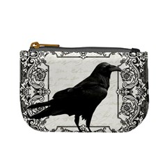 Vintage Halloween Raven Mini Coin Purses