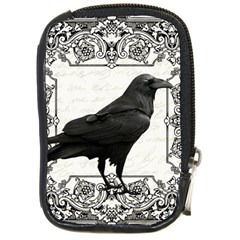 Vintage Halloween Raven Compact Camera Cases