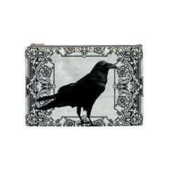 Vintage Halloween Raven Cosmetic Bag (medium)