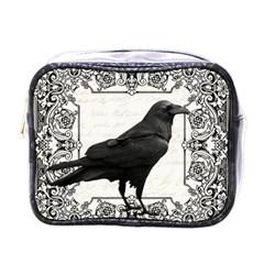 Vintage Halloween Raven Mini Toiletries Bags