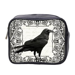 Vintage Halloween Raven Mini Toiletries Bag 2 Side