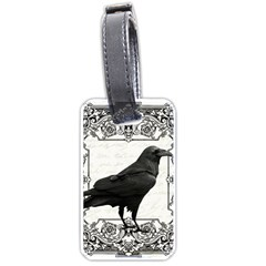 Vintage Halloween Raven Luggage Tags (two Sides)