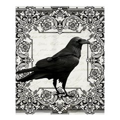Vintage Halloween Raven Shower Curtain 60  X 72  (medium)