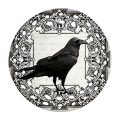 Vintage Halloween Raven Ornament (round Filigree)