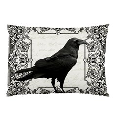 Vintage Halloween Raven Pillow Case (two Sides)