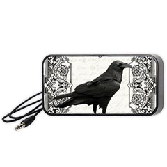 Vintage Halloween Raven Portable Speaker