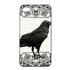 Vintage Halloween Raven Apple Iphone 4/4s Seamless Case (black)