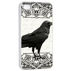 Vintage Halloween Raven Apple Iphone 4/4s Seamless Case (white)