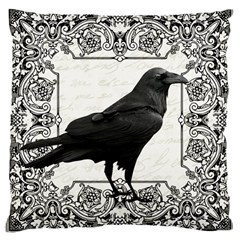 Vintage Halloween Raven Large Cushion Case (two Sides)