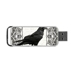 Vintage Halloween Raven Portable Usb Flash (one Side)