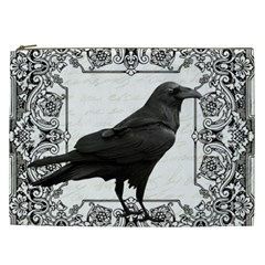 Vintage Halloween Raven Cosmetic Bag (xxl)