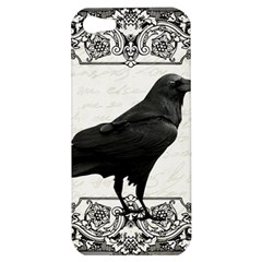 Vintage Halloween Raven Apple Iphone 5 Hardshell Case