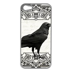 Vintage Halloween Raven Apple Iphone 5 Case (silver)