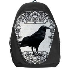Vintage Halloween Raven Backpack Bag