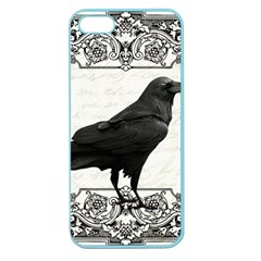 Vintage Halloween Raven Apple Seamless Iphone 5 Case (color)