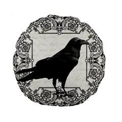 Vintage Halloween Raven Standard 15  Premium Round Cushions