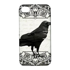 Vintage Halloween Raven Apple Iphone 4/4s Hardshell Case With Stand