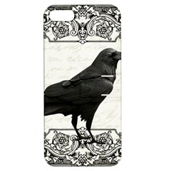 Vintage Halloween Raven Apple Iphone 5 Hardshell Case With Stand