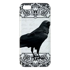 Vintage Halloween Raven Apple Iphone 5 Premium Hardshell Case