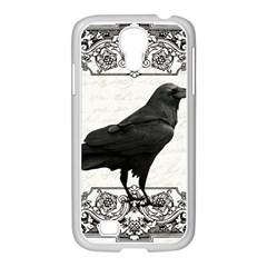 Vintage Halloween Raven Samsung Galaxy S4 I9500/ I9505 Case (white)