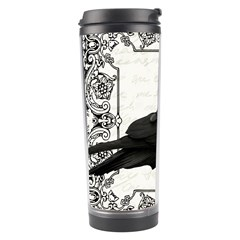 Vintage Halloween Raven Travel Tumbler