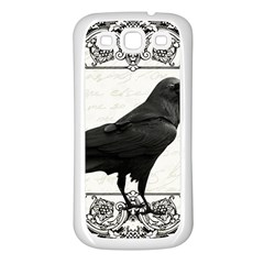 Vintage Halloween Raven Samsung Galaxy S3 Back Case (white)