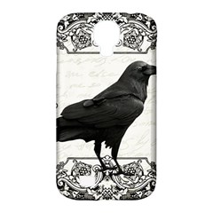 Vintage Halloween Raven Samsung Galaxy S4 Classic Hardshell Case (pc+silicone)
