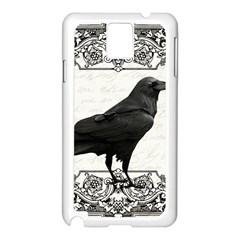 Vintage Halloween Raven Samsung Galaxy Note 3 N9005 Case (white)