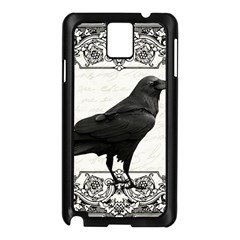 Vintage Halloween Raven Samsung Galaxy Note 3 N9005 Case (black)