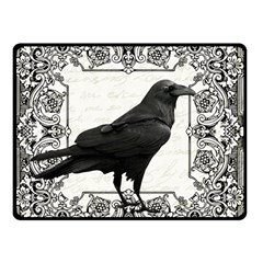 Vintage Halloween Raven Double Sided Fleece Blanket (small)