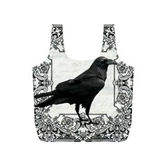 Vintage Halloween Raven Full Print Recycle Bags (s)