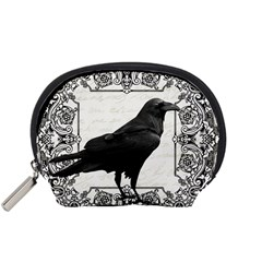 Vintage Halloween Raven Accessory Pouches (small)