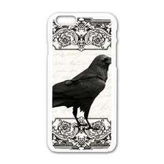 Vintage Halloween Raven Apple Iphone 6/6s White Enamel Case