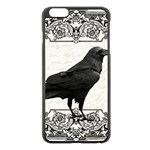 Vintage Halloween raven Apple iPhone 6 Plus/6S Plus Black Enamel Case Front