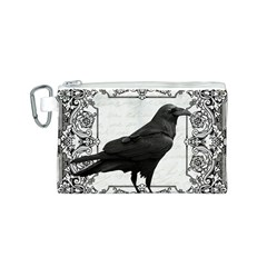Vintage Halloween Raven Canvas Cosmetic Bag (s)