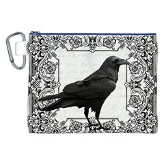 Vintage Halloween Raven Canvas Cosmetic Bag (xxl)