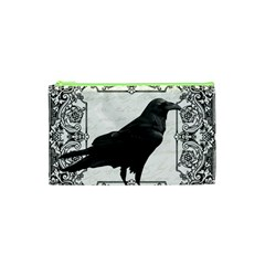 Vintage Halloween Raven Cosmetic Bag (xs)