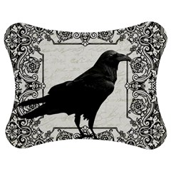 Vintage Halloween Raven Jigsaw Puzzle Photo Stand (bow)