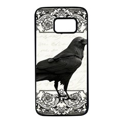 Vintage Halloween Raven Samsung Galaxy S7 Black Seamless Case