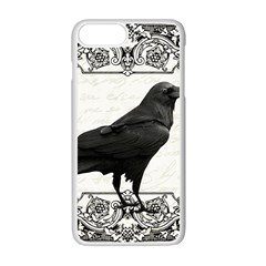 Vintage Halloween Raven Apple Iphone 7 Plus White Seamless Case