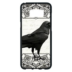Vintage Halloween Raven Samsung Galaxy S8 Plus Black Seamless Case