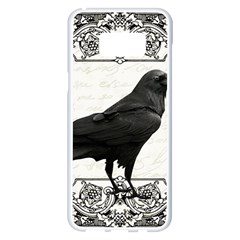 Vintage Halloween Raven Samsung Galaxy S8 Plus White Seamless Case