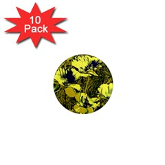 Amazing Glowing Flowers 2c 1  Mini Magnet (10 Pack)