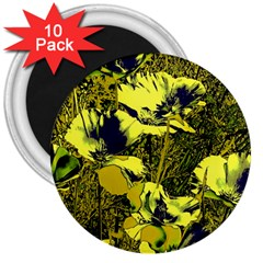 Amazing Glowing Flowers 2c 3  Magnets (10 Pack)