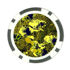 Amazing Glowing Flowers 2c Poker Chip Card Guard (10 Pack)