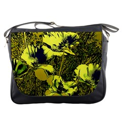 Amazing Glowing Flowers 2c Messenger Bags